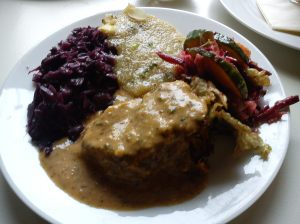 veganer hackbraten at harvest