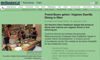 guerilla dining & kati's vegan supper club im derstandard.at panorama