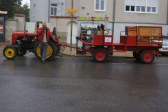 anfahrt mittels traktor