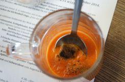 danach: sämige tomatensuppe mit croutons